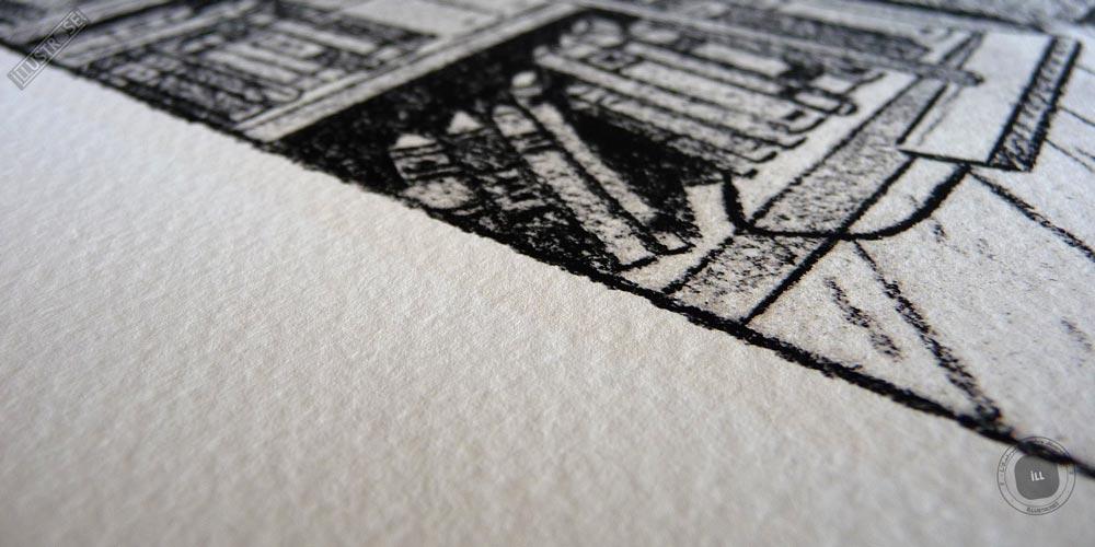 Estampe d'art signée et encadrée André Juillard, 'Le plaisir de lire' sur papier d'art - Illustrose