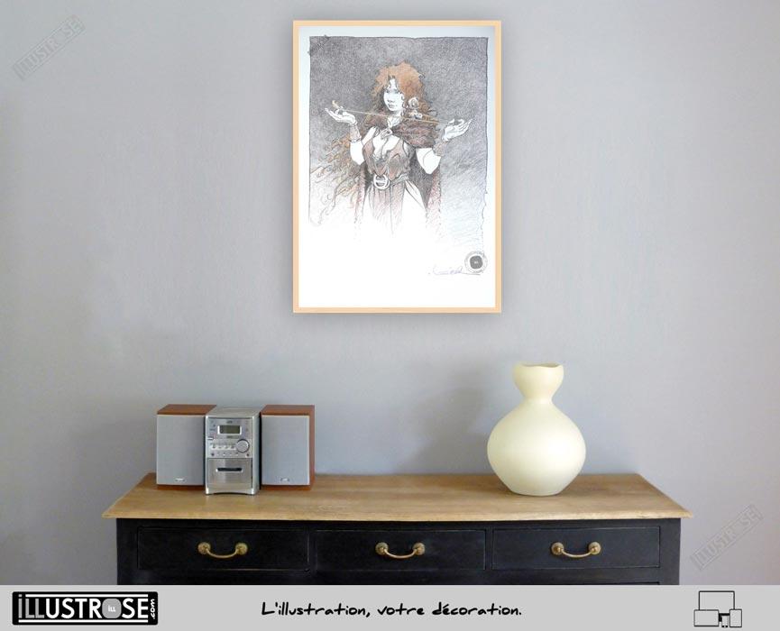Affiche édition d'art BD 'La quête de l'oiseau du temps, Pélisse 2' de Régis Loisel - Illustrose