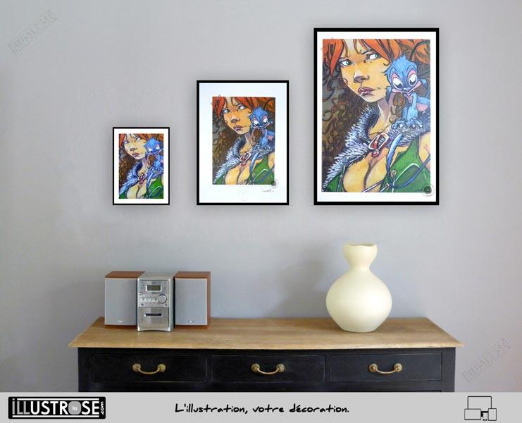 Affiche édition d'art BD 'La quête de l'oiseau du temps, Pélisse 4' de Régis Loisel - Illustrose
