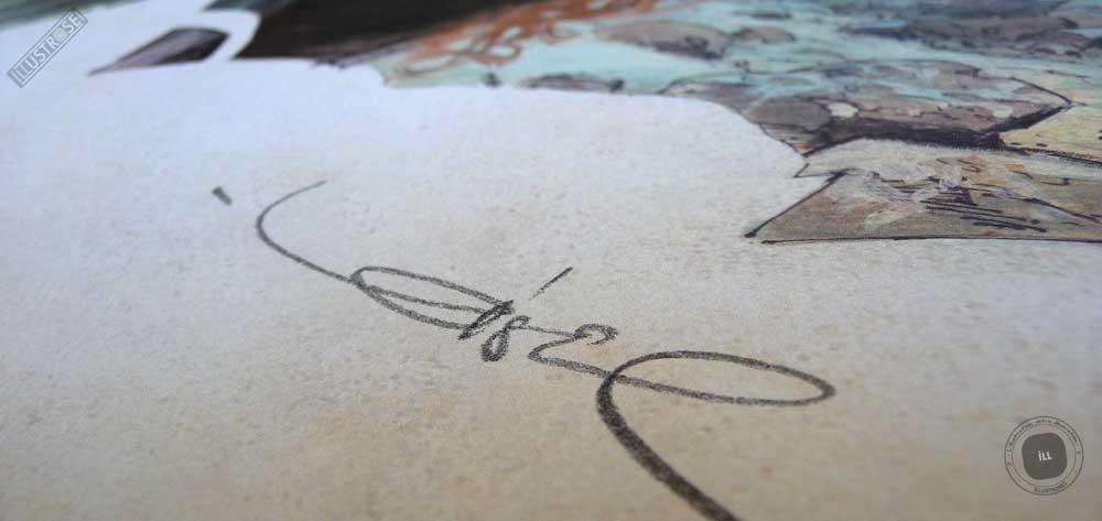 Affiche BD encadrée La quête de l'oiseau du temps, version couleur de Régis Loisel sur papier d'art - Illustrose