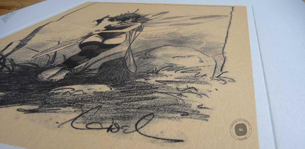 Affiche édition d'art BD Peter Pan 'Clochette, fée n°7' de Régis Loisel - Illustrose