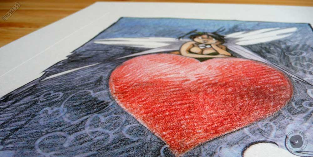 Affiche édition d'art BD Peter Pan 'Clochette, mon coeur' de Régis Loisel - Illustrose