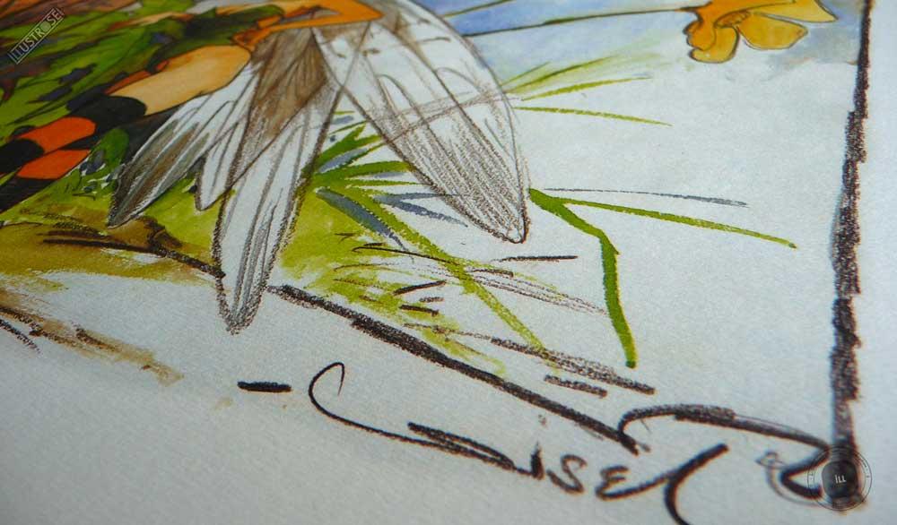 Affiche édition d'art BD Peter Pan 'Clochette' de Régis Loisel - Illustrose
