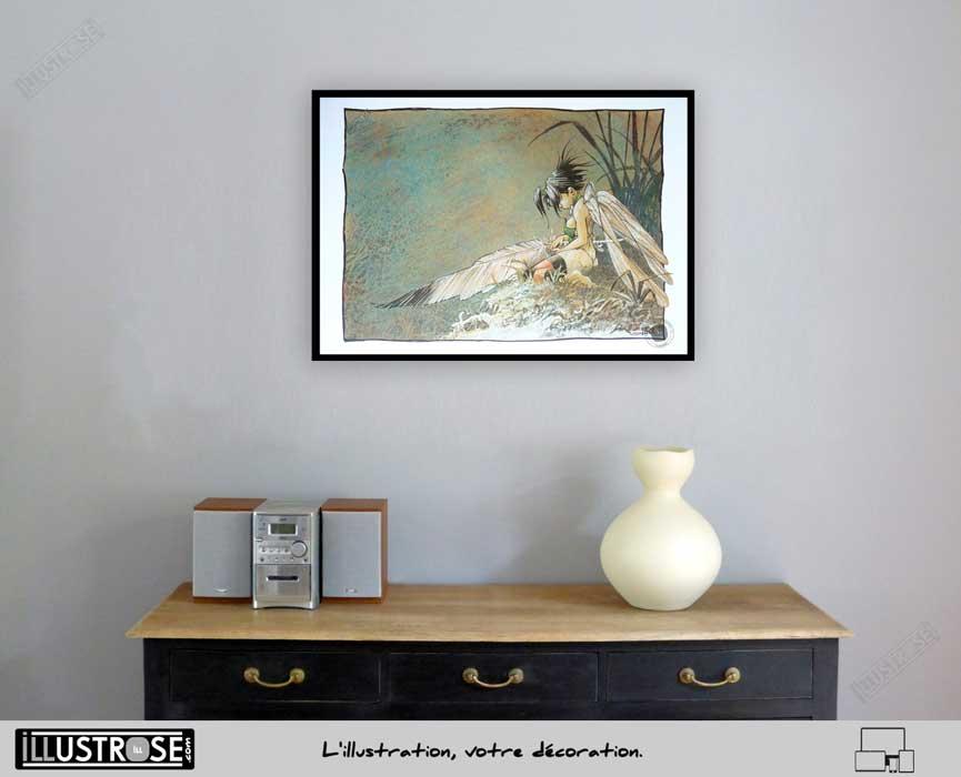 Affiche édition d'art BD Peter Pan 'Clochette, songe d'une nuit d'été' de Régis Loisel - Illustrose