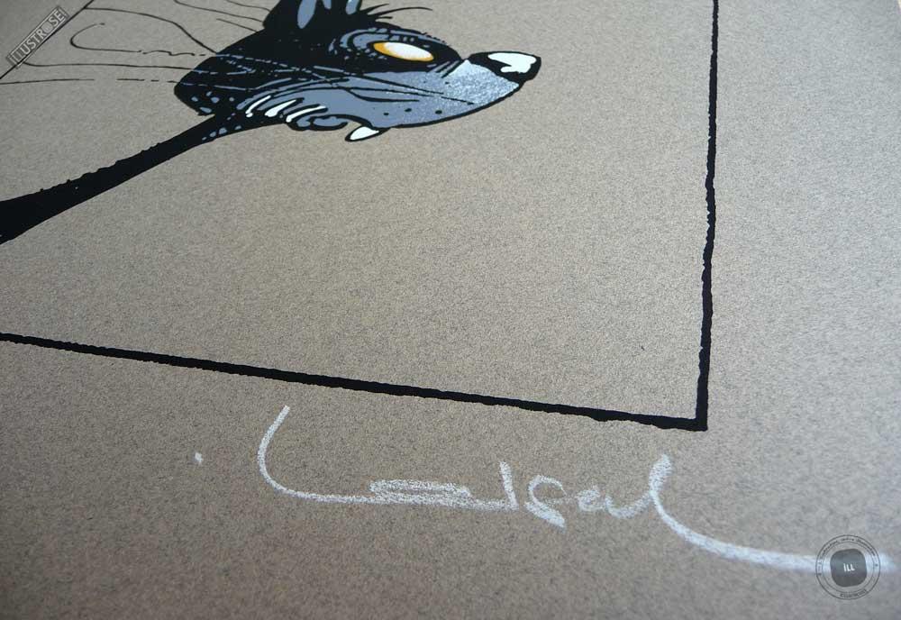 Sérigraphie 'Le chat' signée par Régis Loisel - Illustrose