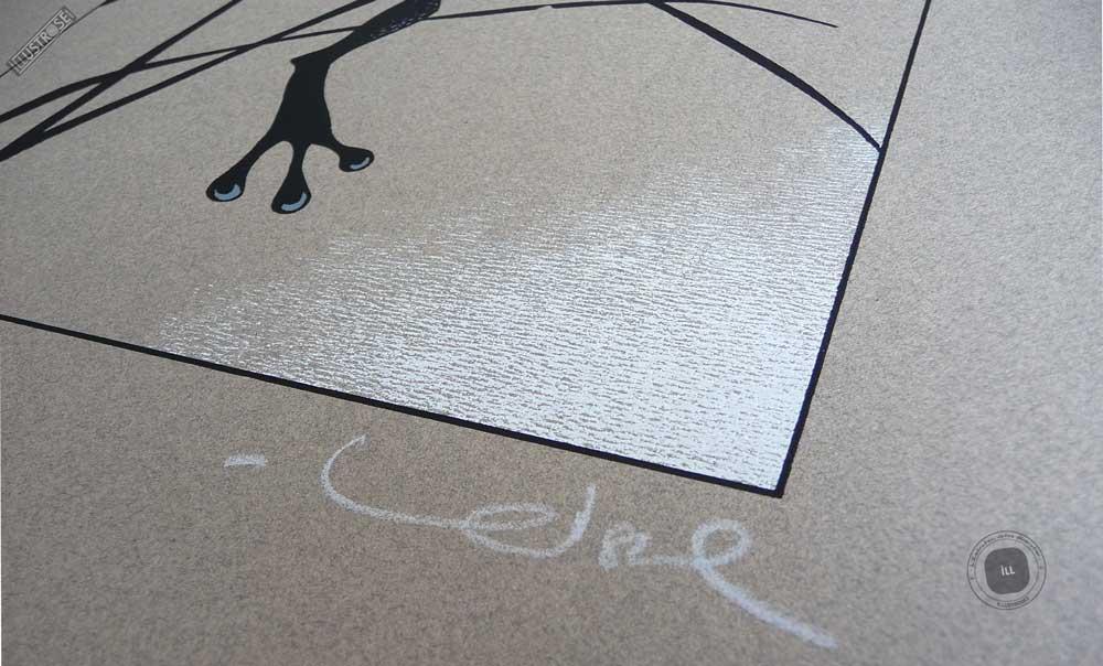 Sérigraphie 'La grenouille' signée par Régis Loisel - Illustrose