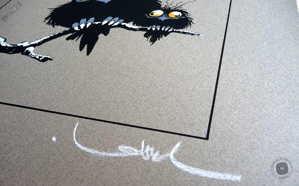 Sérigraphie 'Z'hiboux' signée par Régis Loisel - Illustrose