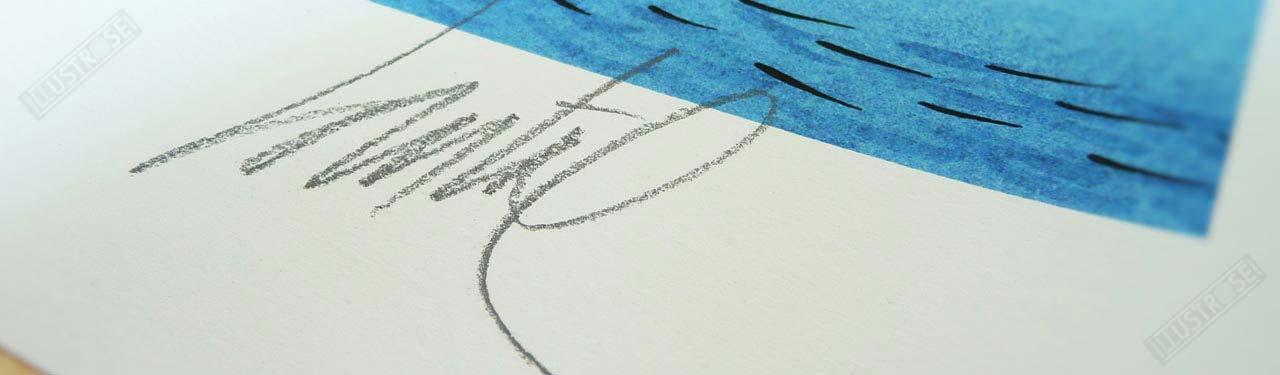 Estampe Numérotée et Signée par Loustal - Illustrose