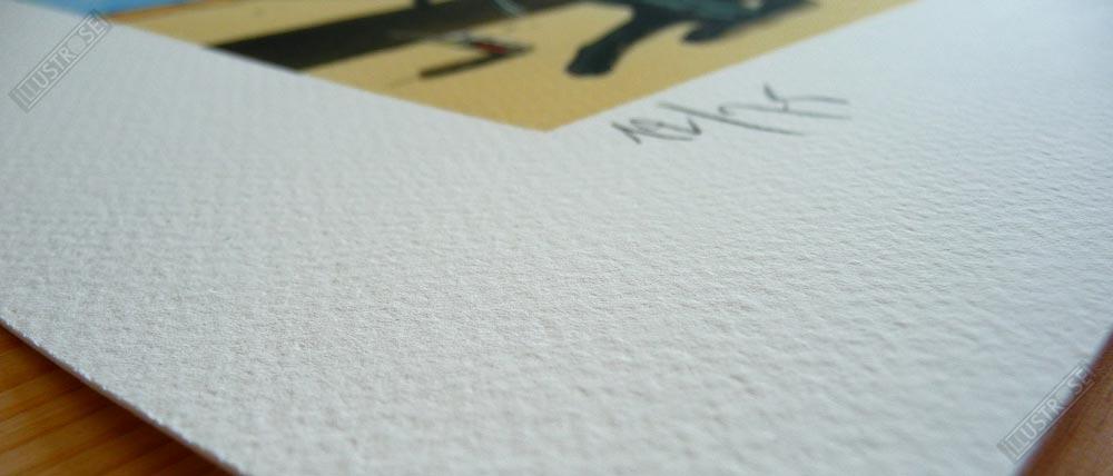 Estampe Loustal papier d'art Black-Dog - Illustrose