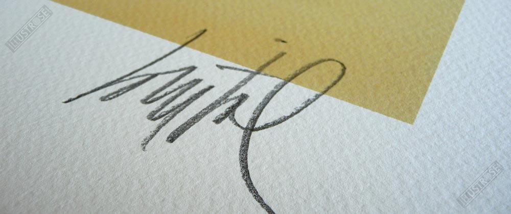 Estampe Numérotée et Signée par Loustal Black-Dog - Illustrose