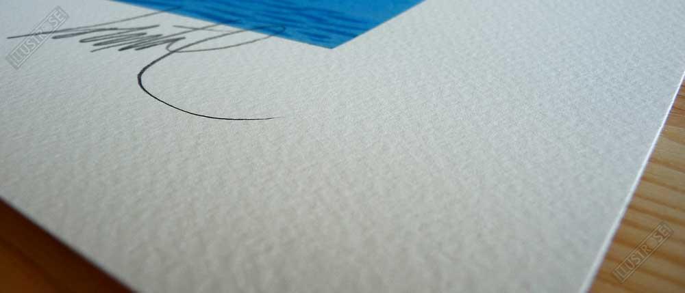 Estampe Loustal papier d'art Sur les quais - Illustrose