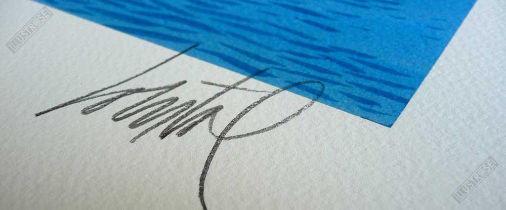Estampe Numérotée et Signée par Loustal Sur les quais - Illustrose