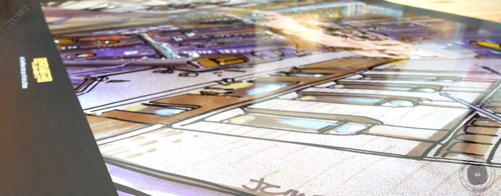 Affiche illustration cinéma 'Le cinquième élément - New-York' Jean-Claude Mézières - Illustrose
