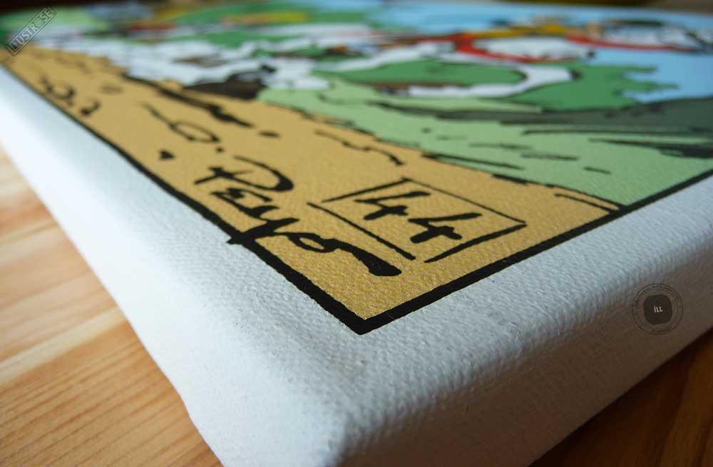 Toile de collection para BD éditions du grand vingitième déco 'Johan et Pirlouit - Au revoir' de Peyo - Illustrose