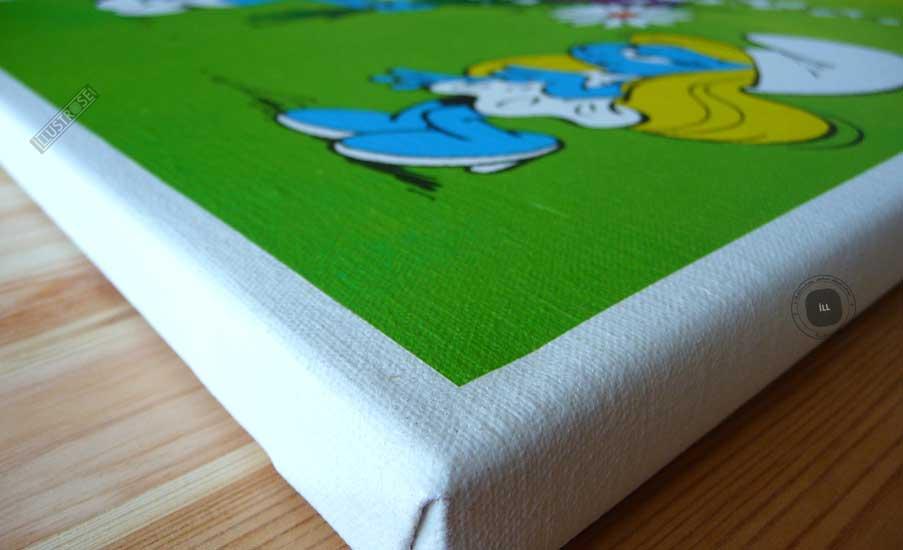 Toile de collection para BD éditions du grand vingitième déco 'Les Schtroumpfs - Le bouquet' de Peyo - Illustrose
