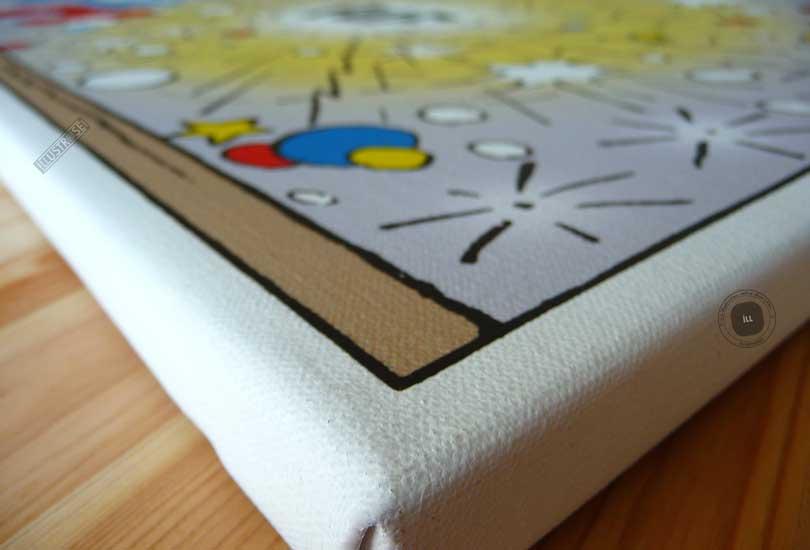 Toile de collection para BD éditions du grand vingitième déco 'Les Schtroumpfs - Puf' de Peyo - Illustrose