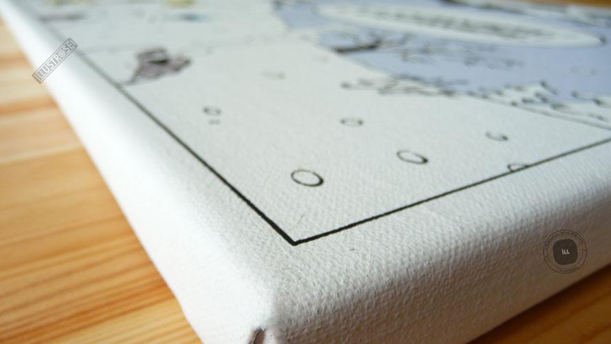Toile de collection para BD éditions du grand vingitième déco 'Les Schtroumpfs - Matin d'hiver' de Peyo - Illustrose