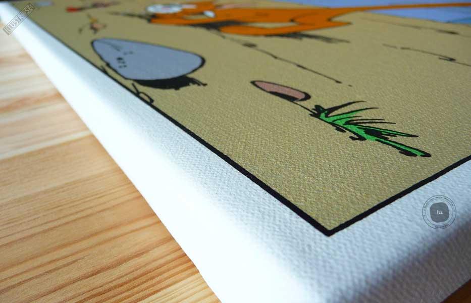 Toile de collection para BD éditions du grand vingitième déco 'Les Schtroumpfs - Vengeance' de Peyo - Illustrose