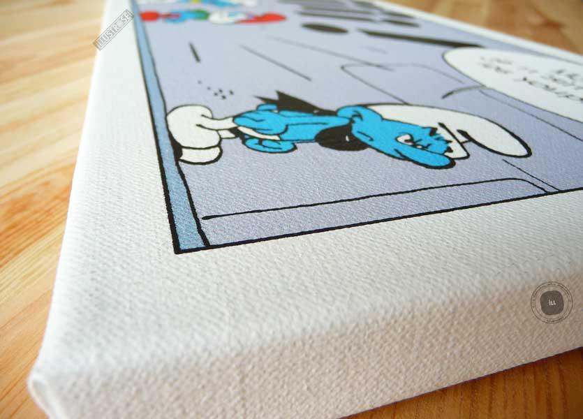 Toile de collection para BD éditions du grand vingitième déco 'Les Schtroumpfs - Youpi' de Peyo - Illustrose