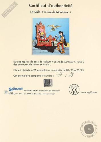 Toile de collection para BD éditions du grand vingitième déco 'Johan et Pirlouit - Le cire de Montrésor' de Peyo - Illustrose