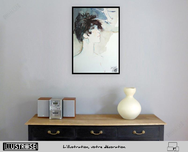 Affiche édition d'art BD Corto Maltese 'Banshee' de Hugo Pratt - Illustrose