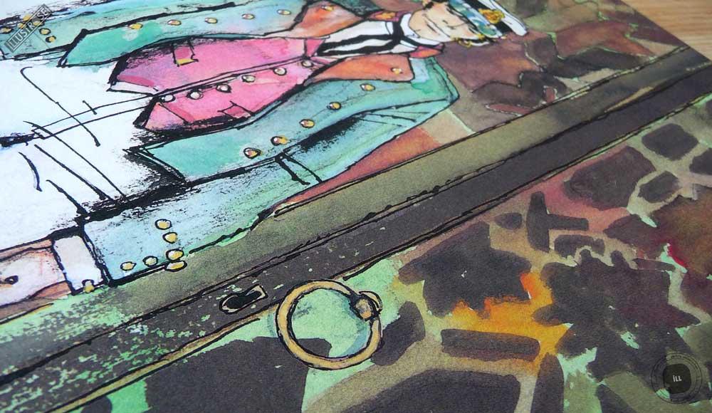 Affiche édition d'art BD Corto Maltese 'Corto mauresque' de Hugo Pratt - Illustrose