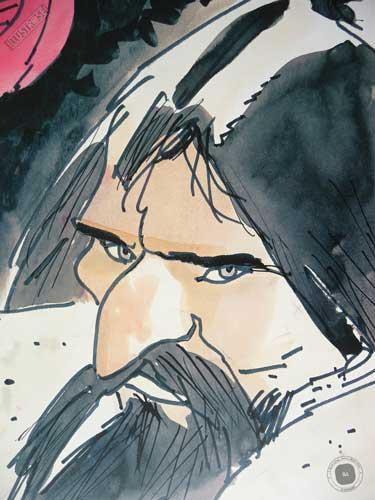 Affiche édition d'art BD Corto Maltese 'Corto sibérie' de Hugo Pratt - Illustrose