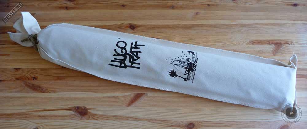 Toile sérigraphiée déco BD Corto Maltese 'Adieu écru' de Hugo Pratt - Illustrose