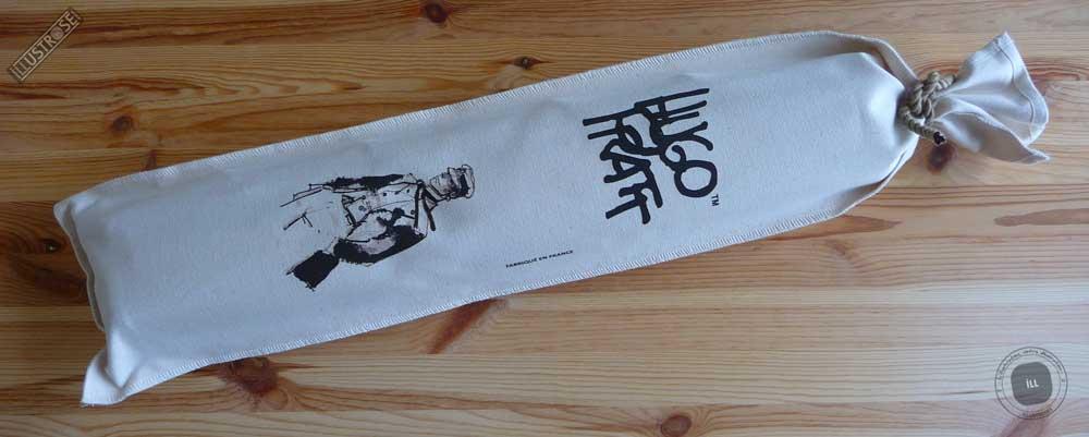 Toile sérigraphiée déco BD Corto Maltese 'Baltikum' de Hugo Pratt - Illustrose