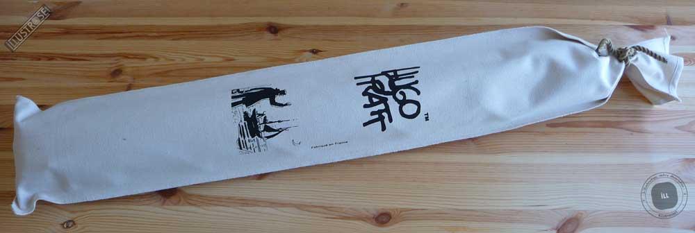 Toile sérigraphiée déco BD Corto Maltese 'Bon vent' de Hugo Pratt - Illustrose