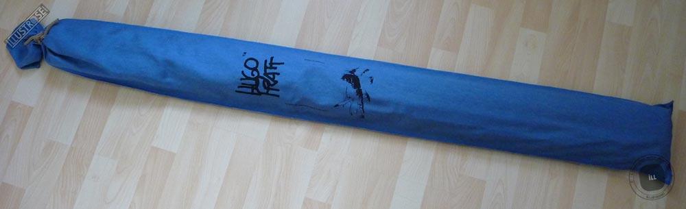Toile sérigraphiée déco BD Corto Maltese 'Dune bleu' de Hugo Pratt - Illustrose