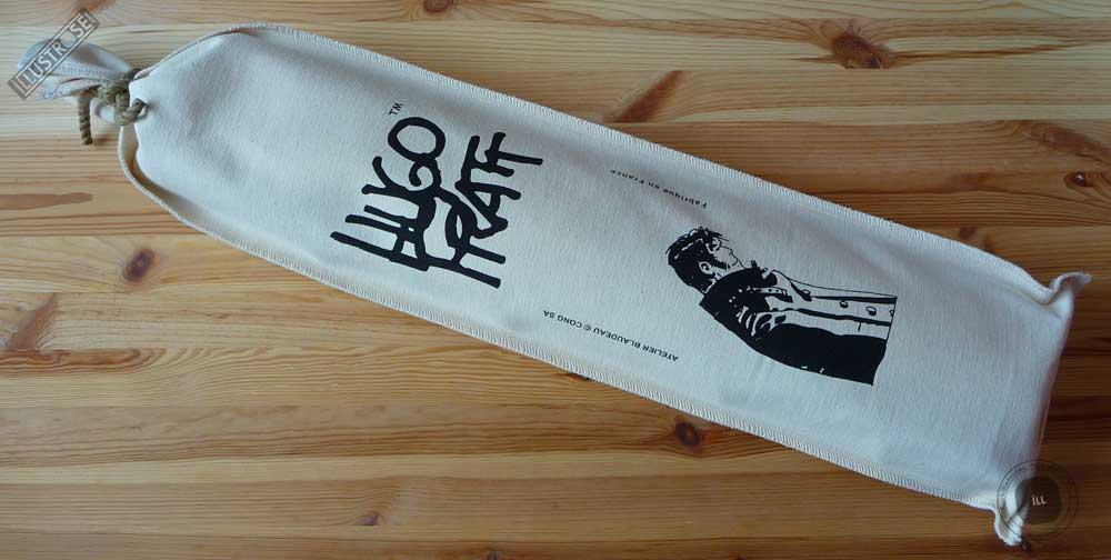 Toile sérigraphiée déco BD Corto Maltese 'Penseur écru' de Hugo Pratt - Illustrose