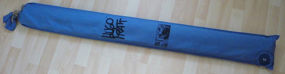 Toile sérigraphiée déco BD Corto Maltese 'Port Ducal bleu' de Hugo Pratt - Illustrose