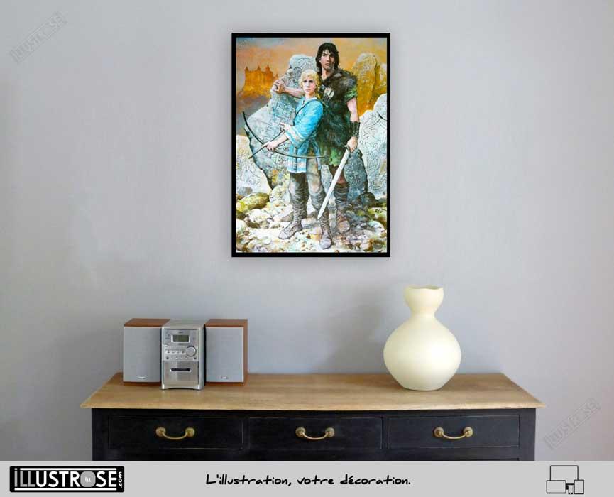 Affiche BD poster encadre Thorgal 'Moi Jolan' Grzegorz Rosinski - Illustrose