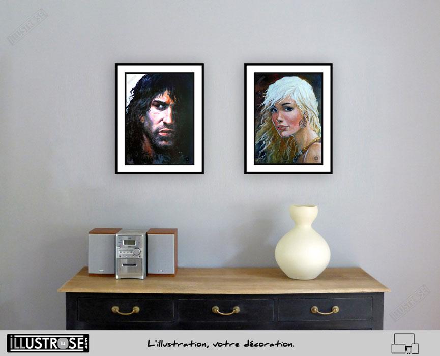 Affiche BD poster Thorgal 'Portrait' Grzegorz Rosinski - Illustrose