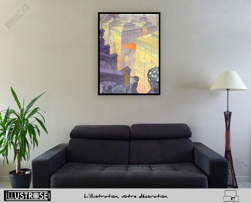 Affiche d'art François Schuiten 'Paris les Halles le jour' sur papier d'art - Illustrose