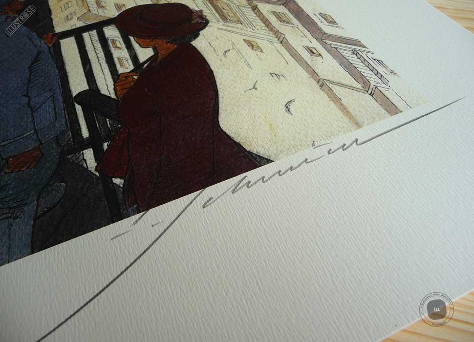 Affiche d'art François Schuiten signée 'Paris les Halles le jour' sur papier d'art - Illustrose