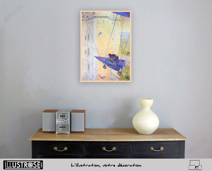 Affiche d'art François Schuiten 'Vincennes 2012, le donjon' sur papier d'art - Illustrose