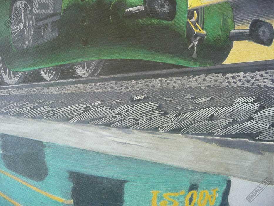 Affiche d'art François Schuiten la type 12 de nuit sur papier d'art - Illustrose