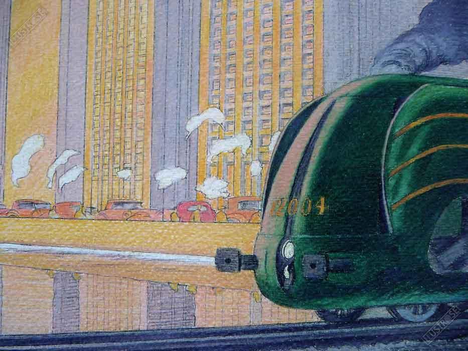Affiche d'art François Schuiten la type 12 reflet sur papier d'art - Illustrose