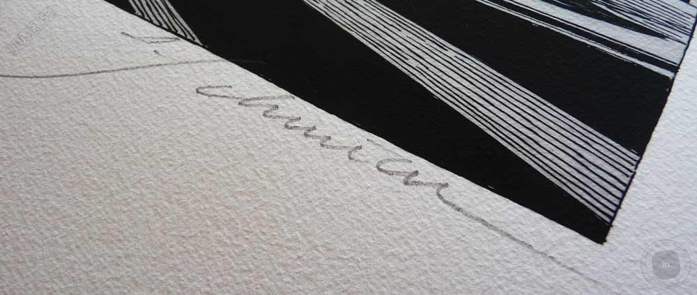 Estampe encadrée, signée et numérotée Revoir Paris François Schuiten - Illustrose