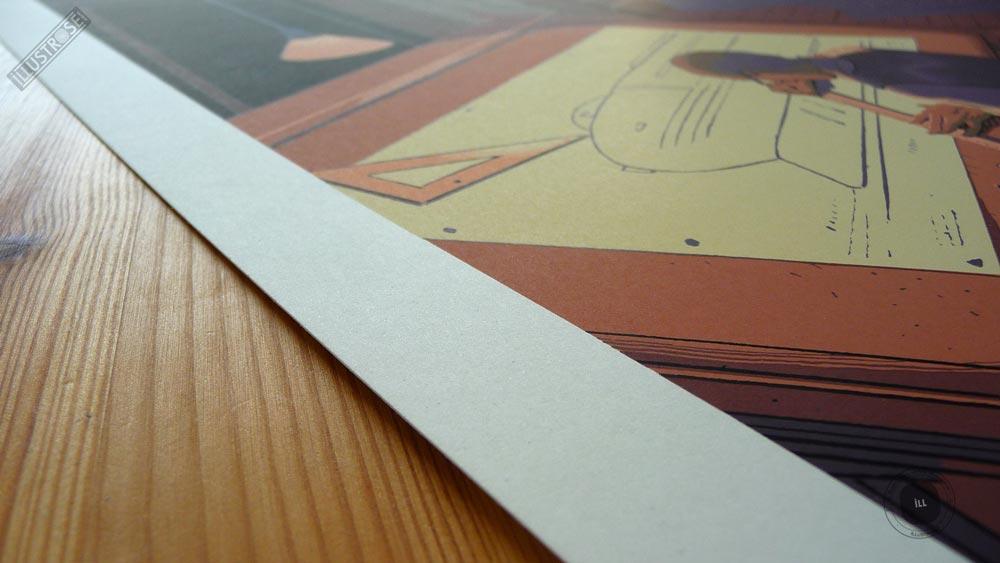 Sérigraphie signée et encadrée François Schuiten & Laurent Durieux, 'Dialogues' sur papier d'art - Illustrose