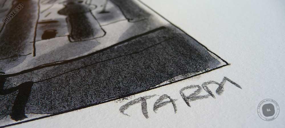 Affiche d'art Jacques Tardi 'Avril et le monde truqué - Les toits' - Illustrose