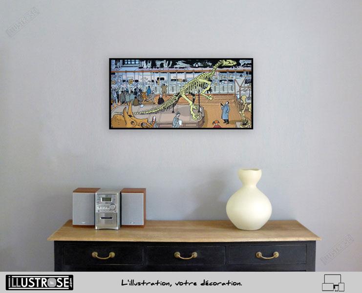 Affiche BD d'art Jacques Tardi encadrée 'Nestor Burma - Paris 5ème arrondissement' - Illustrose