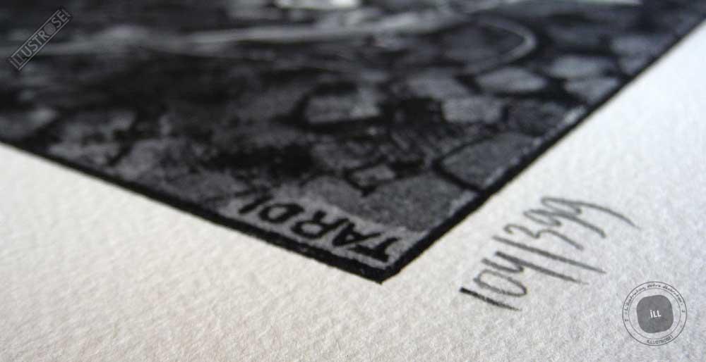 Lithographie BD numérotée Jacques Tardi encadrée 'Le cri du peuple - la commune IV' - Illustrose
