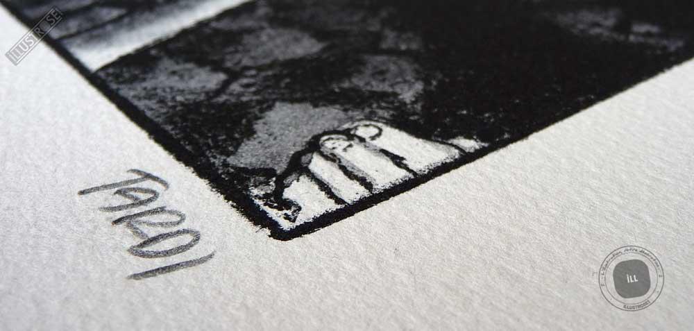 Lithographie BD signée Jacques Tardi encadrée 'Le cri du peuple - la commune IV' - Illustrose