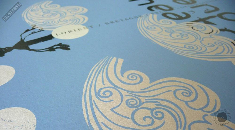 Sérigraphie signée et encadrée Zig by Dezzig, 'Grand Théâtre' sur papier d'art - Illustrose