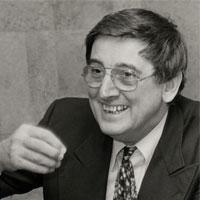 Portrait de André Franquin. Illustrateur et auteur de BD.