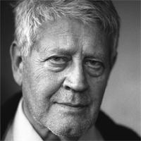 Portrait d'Hugo Pratt. Illustrateur et auteur de BD.