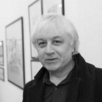 Portrait de Serge Clerc. Illustrateur et auteur de BD.